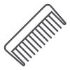 Ritka fogú fésű a göndör hajhoz